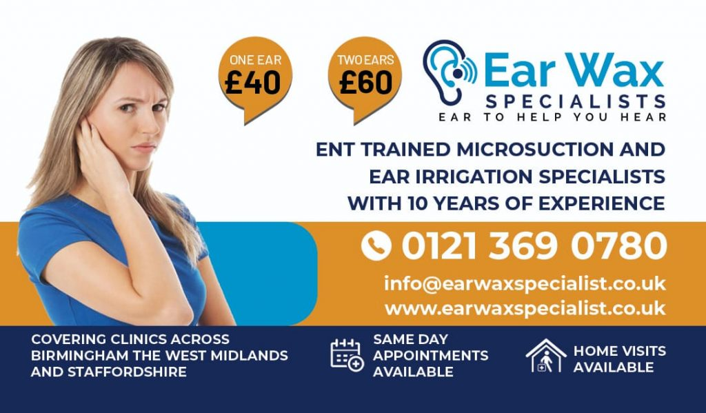 Ear Wax Removal Birmingham & Solihull